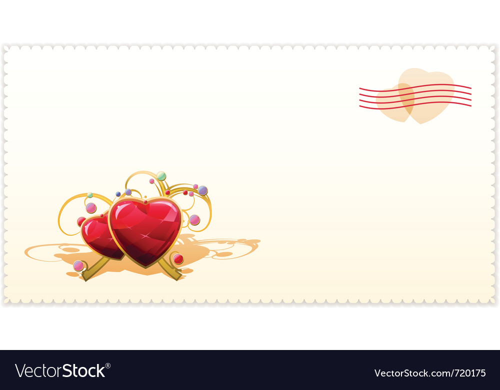 Old Fashioned Valentine Card Royalty Free Vector Image