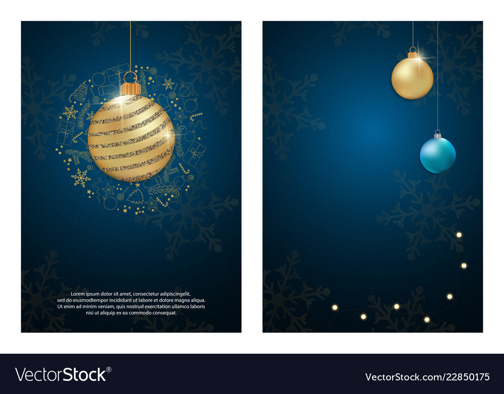 Set of party poster merry christmas holiday club