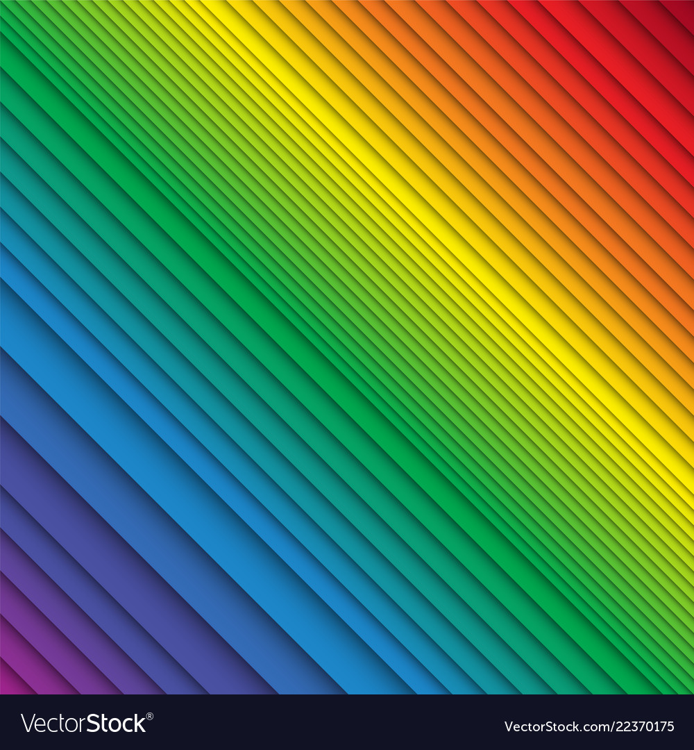 Stacked rainbow colored stripes