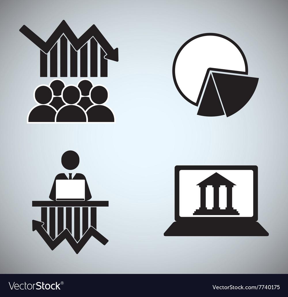 Stock Market Icon Vector Art