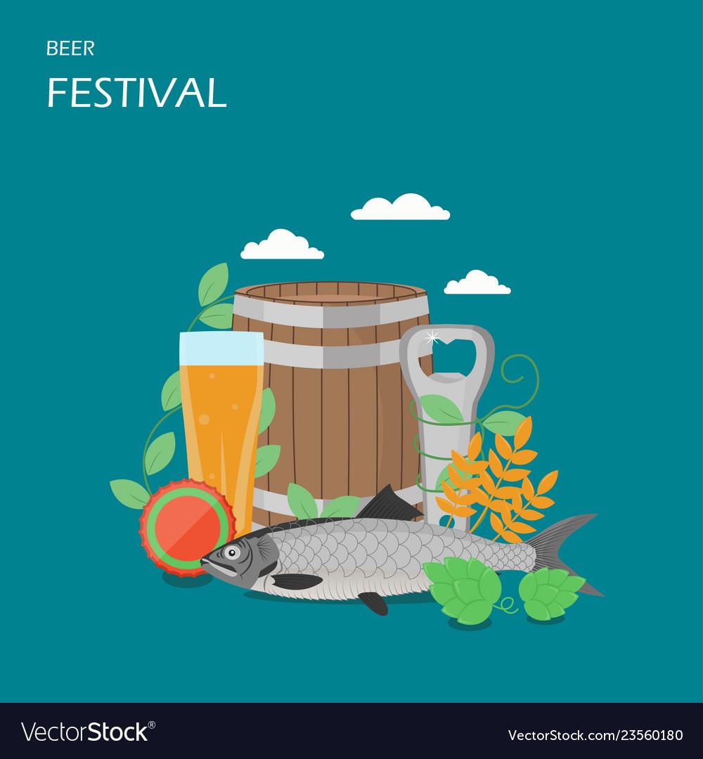 Beer festival flat style design