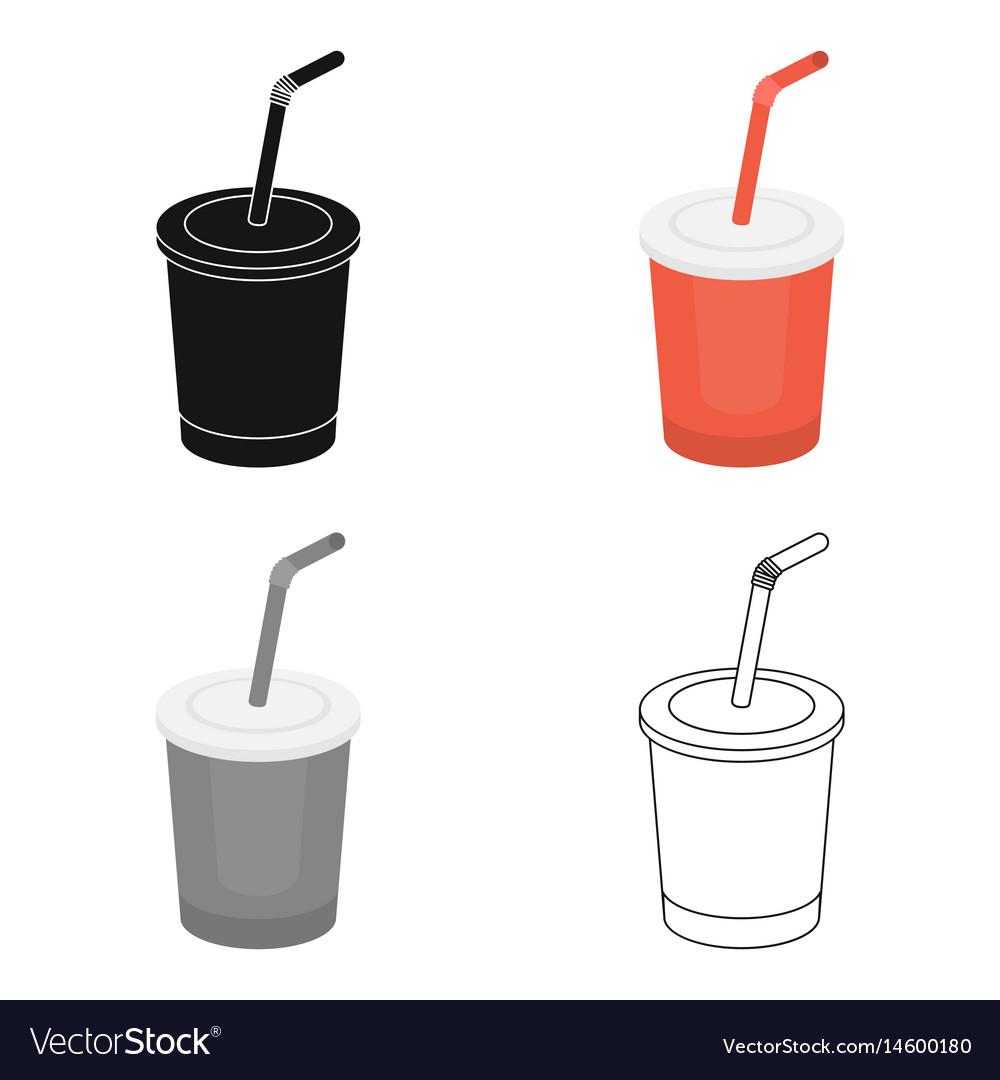Coca-cola icon in cartoon style for web vector image
