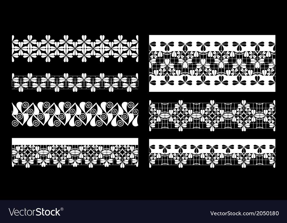 Set of lace trims
