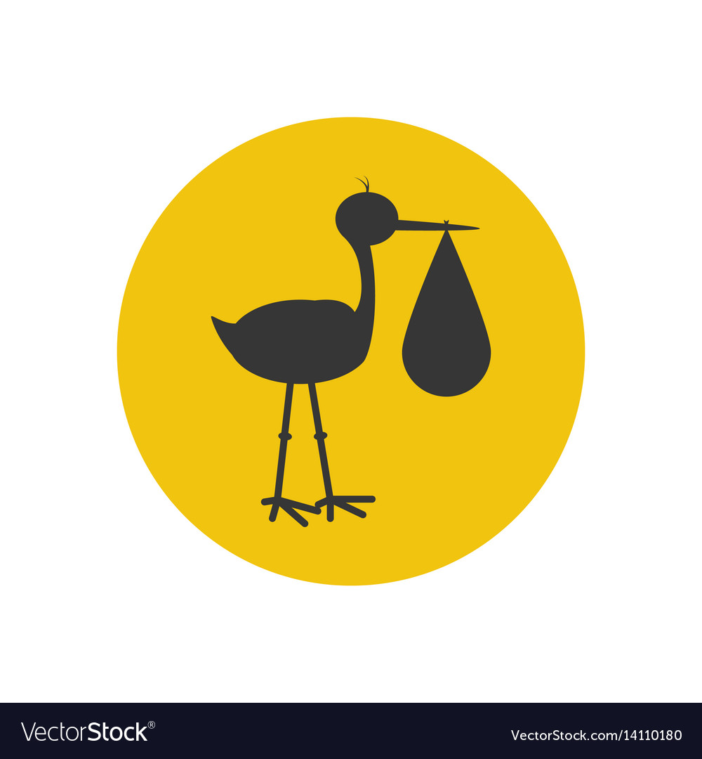 Stork brought the baby silhouette