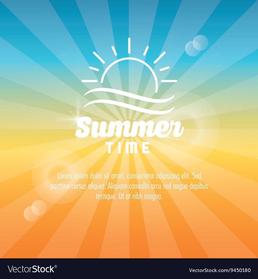 Summer design sun icon graphic
