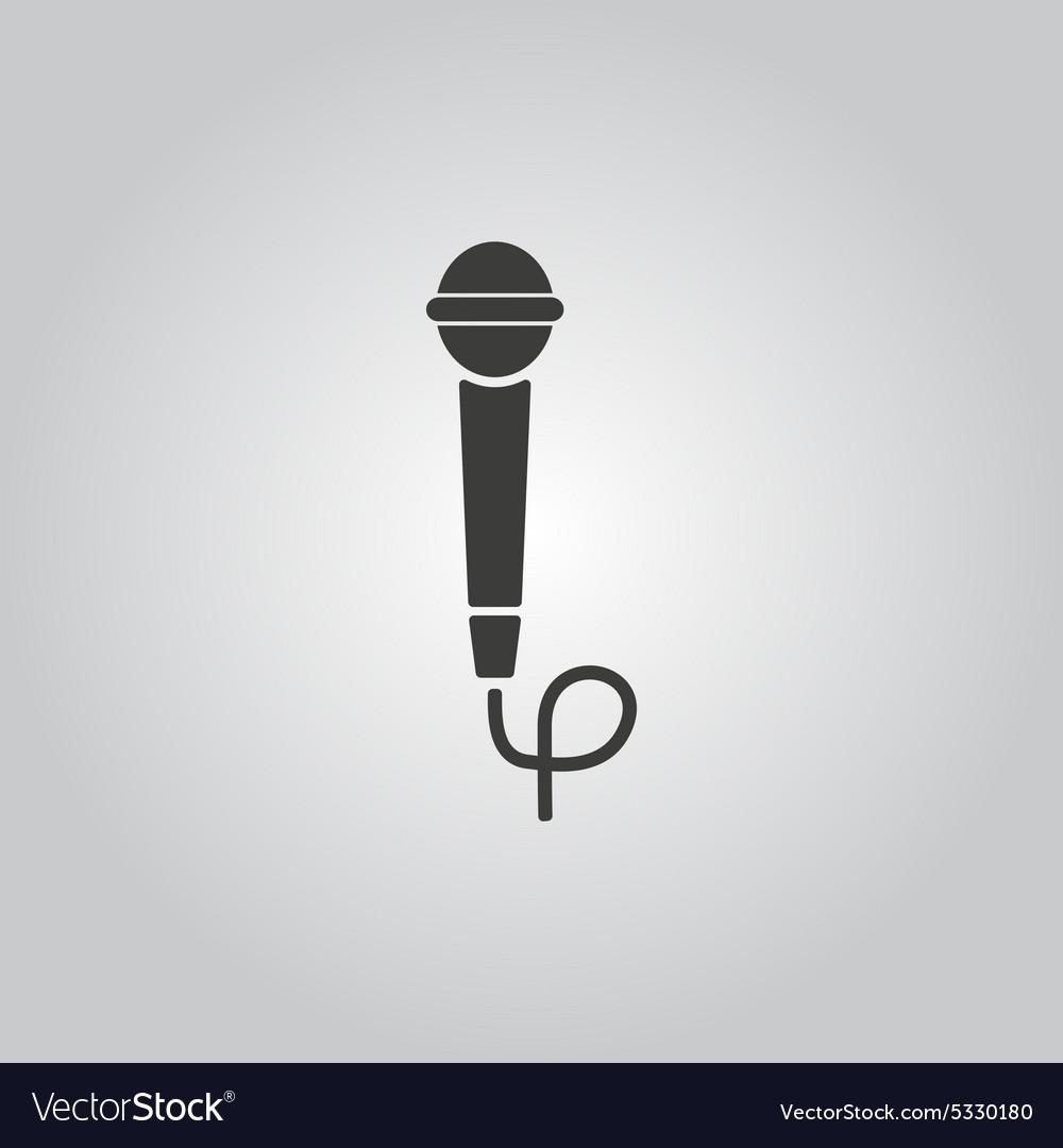 The microphone icon Sound symbol Flat