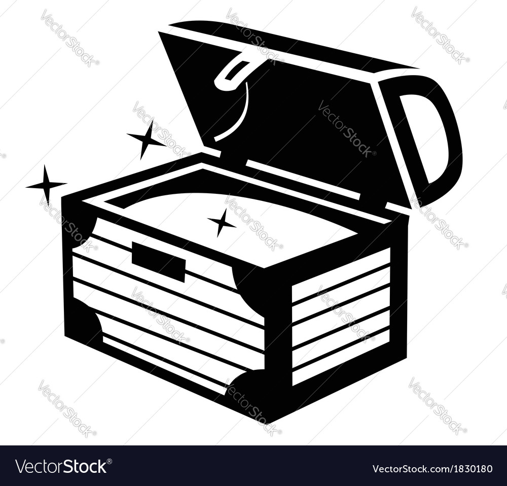 treasure chest icon royalty free vector image vectorstock rh vectorstock com treasure chest vector silhouette treasure chest vector silhouette