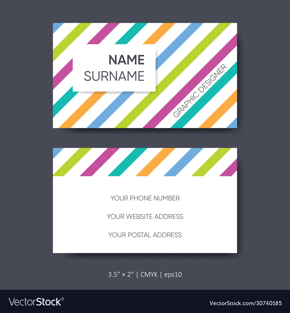 Business card template abstract design set