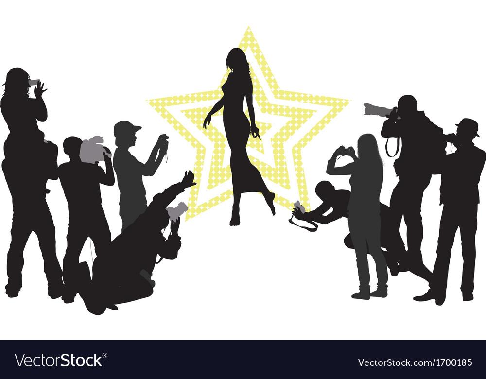 Celebrity vector image
