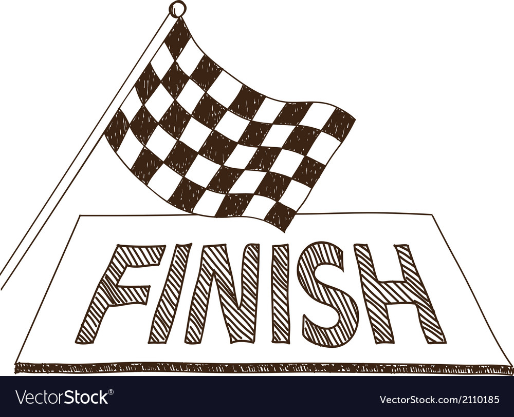 Checkered flag and finish drawing