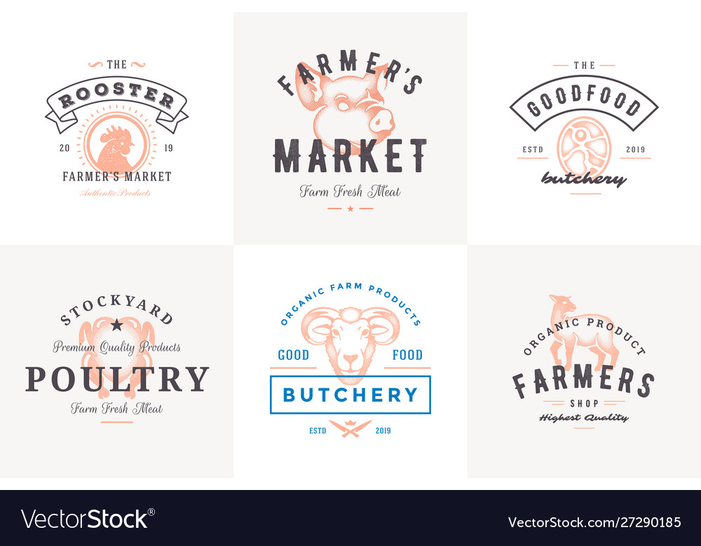 Engraving logos and labels farm animals with