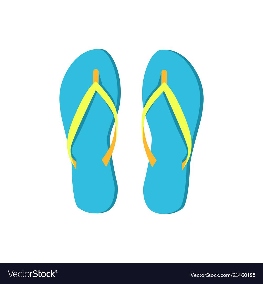 Flip-flops blue summer shoes