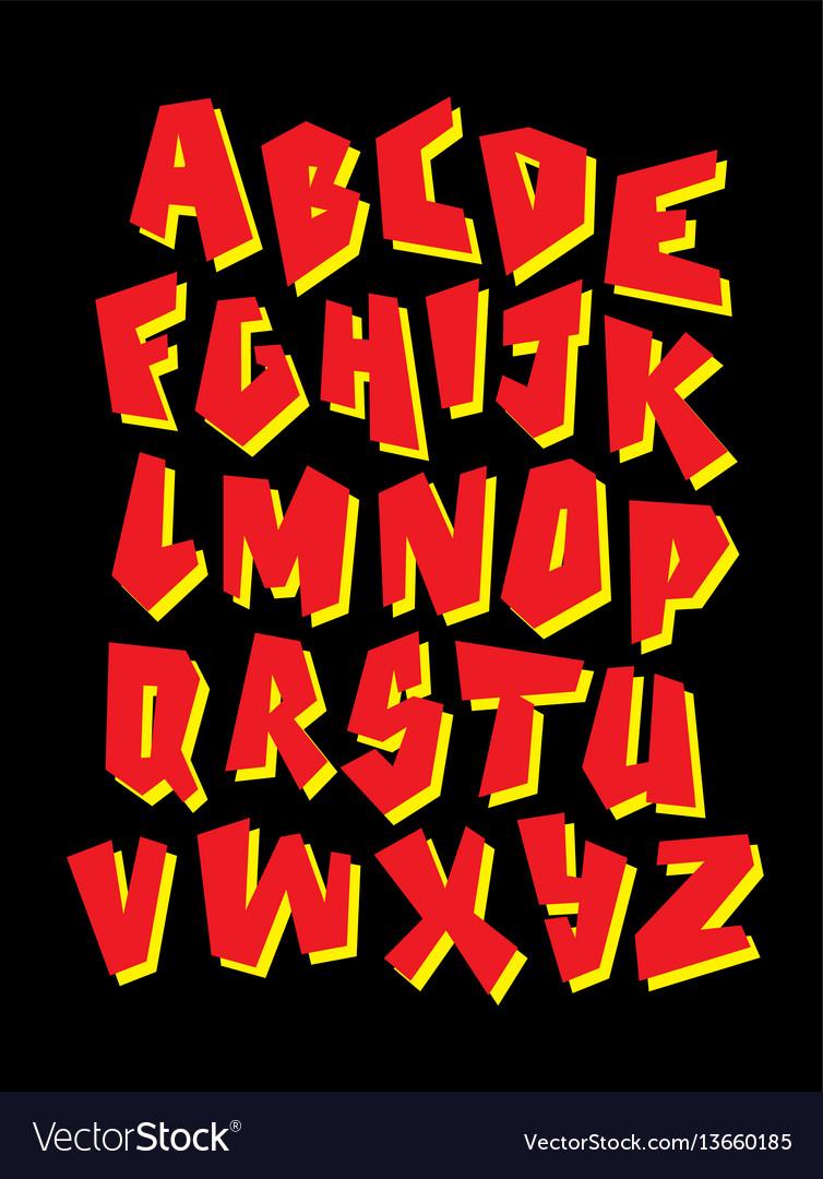 Editable Graffiti Font