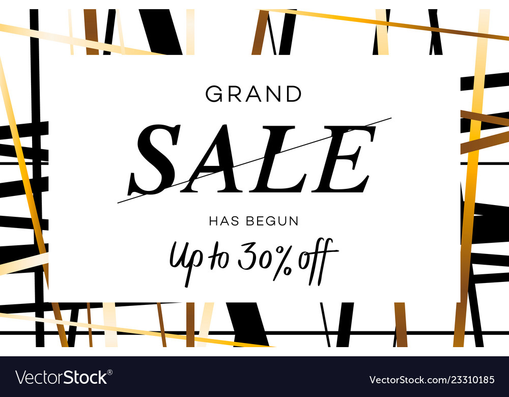 Grand sale banner flyer or poster with