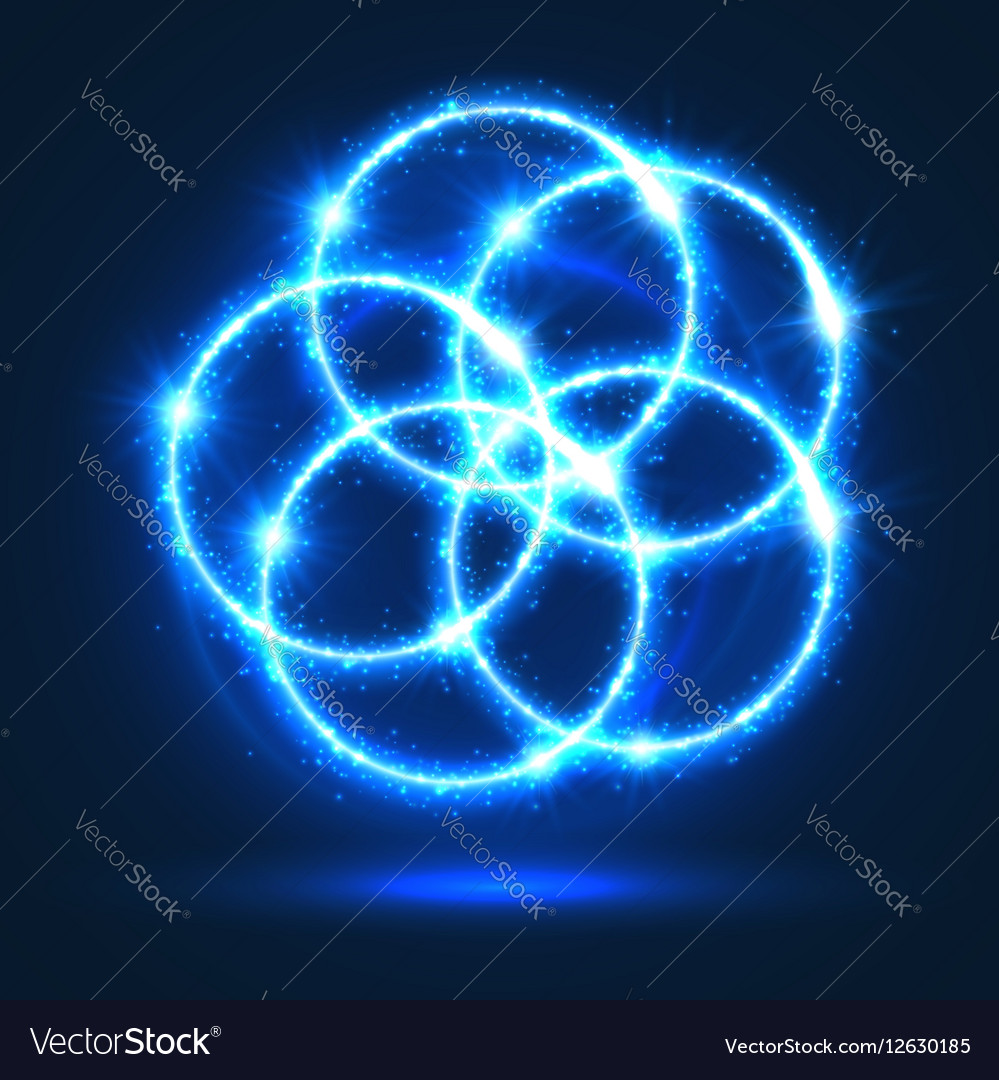 Light circles abstract neon lights flashes