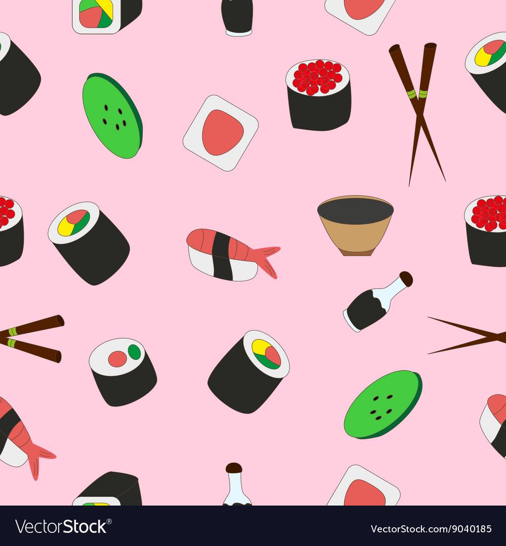 Seamless texture of tasty Japanese food