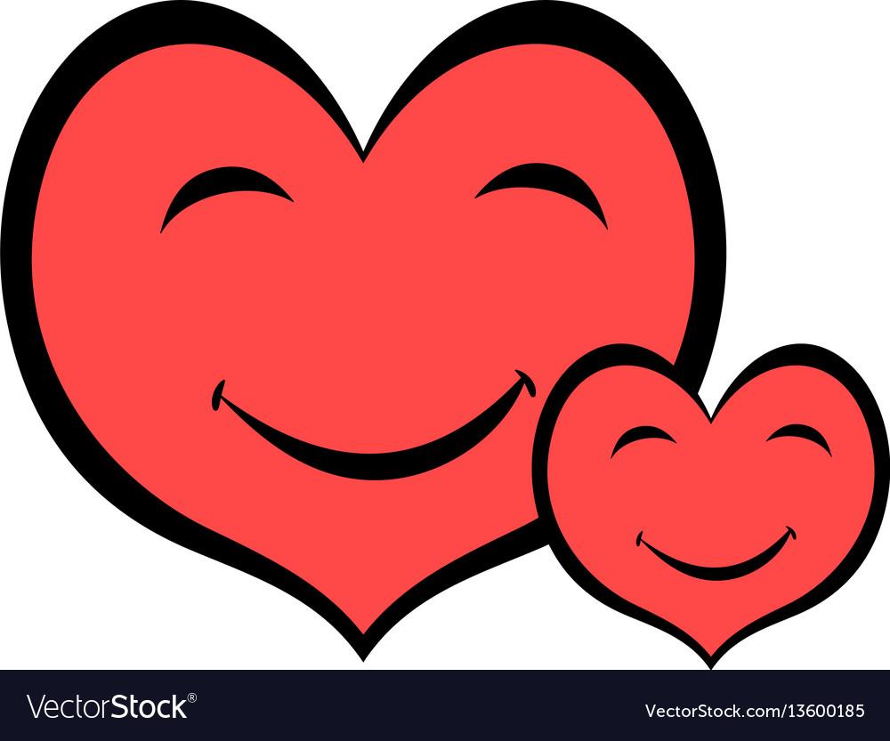 Smiling heart faces icon icon cartoon