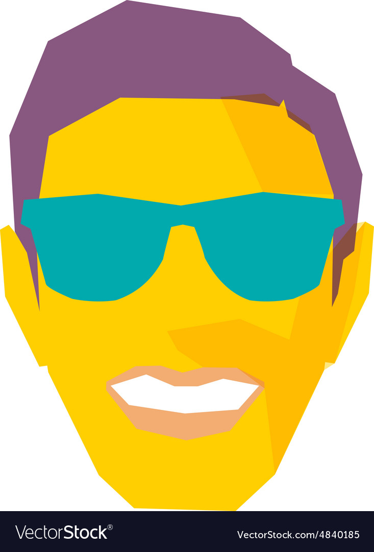 Smiling Male Face With Sunglasses