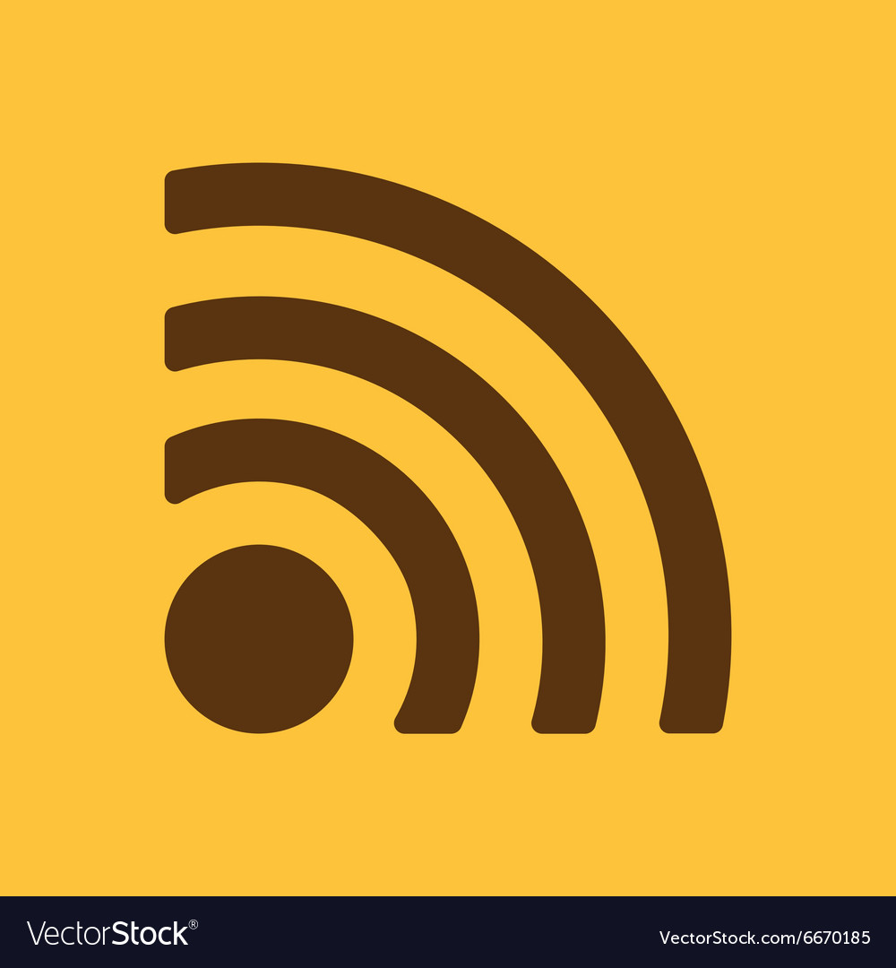 The wireless icon wifi symbol Royalty Free Vector Image
