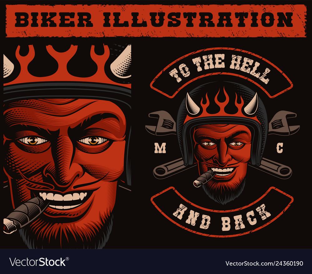 A devil biker