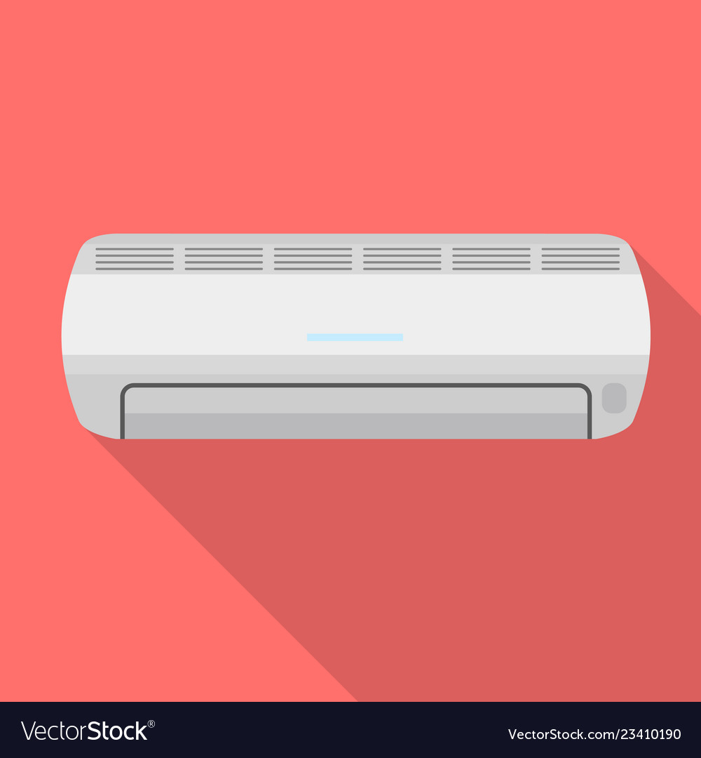 Air conditioner icon flat style
