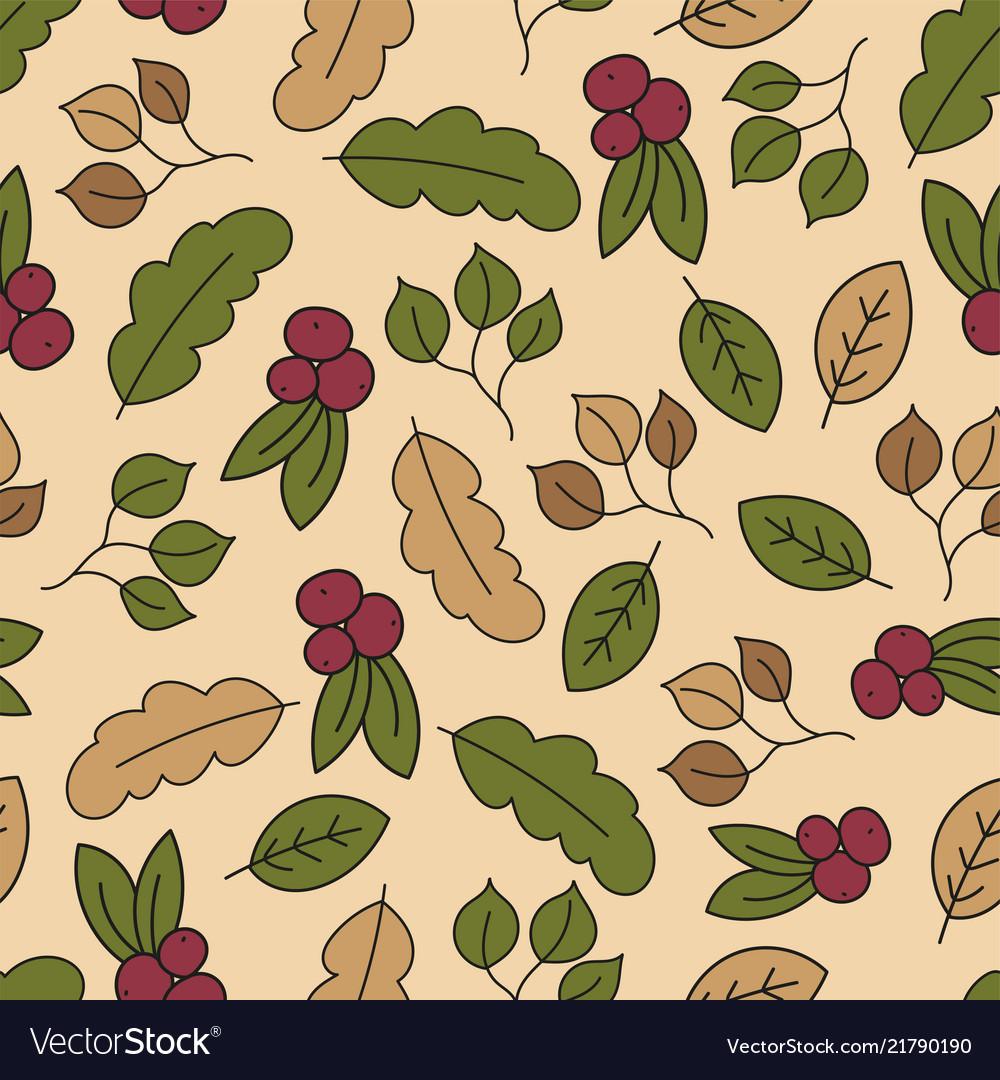 Autumn seamless pattern with leaf autumn leaf