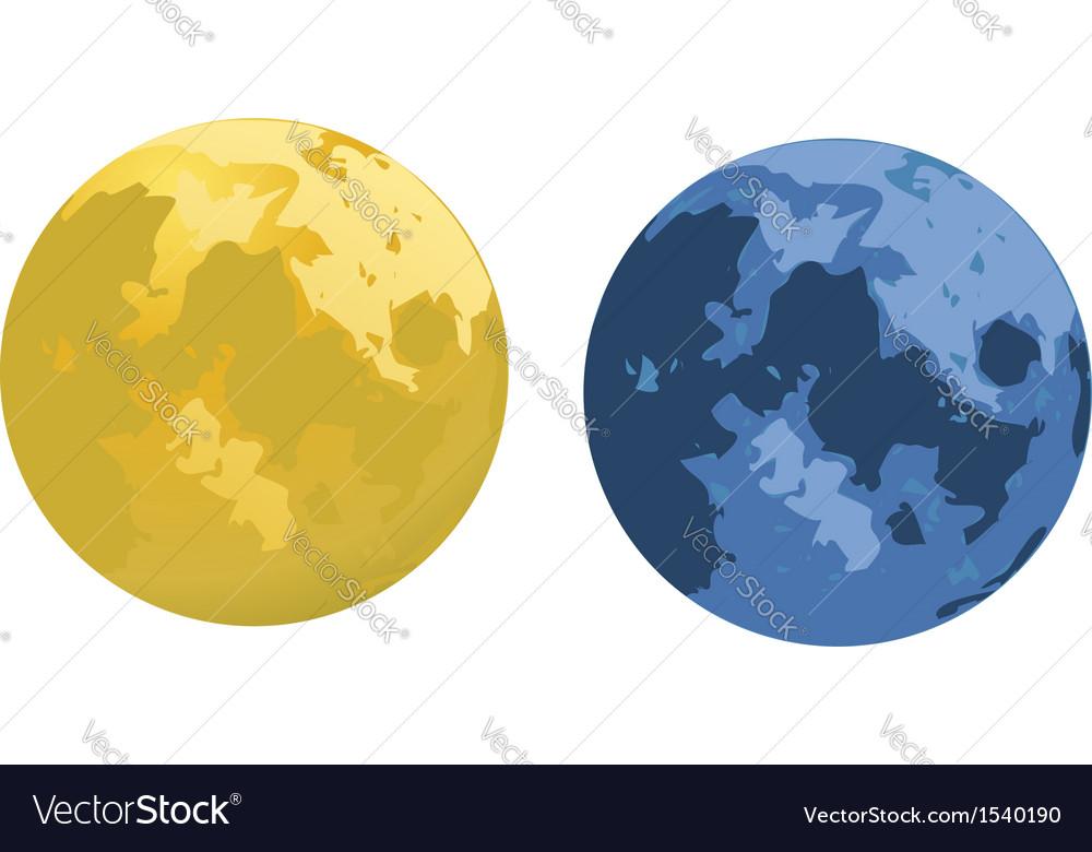Cartoon moons