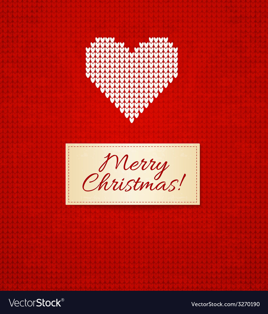 Christmas knitting background with heart