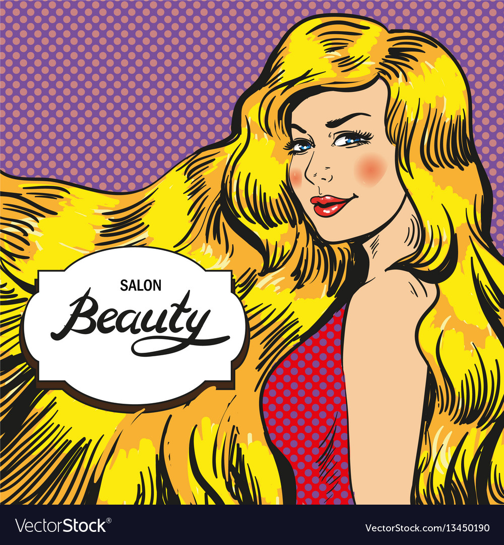 For beauty salon retro pop