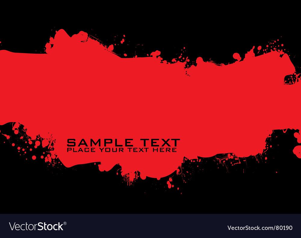 Grunge ink vector image