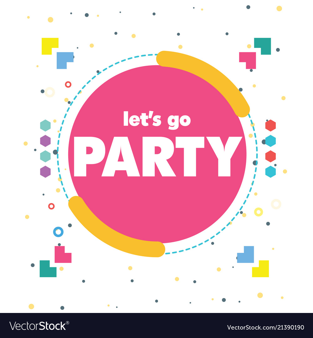 Lets go party pink circle frame background