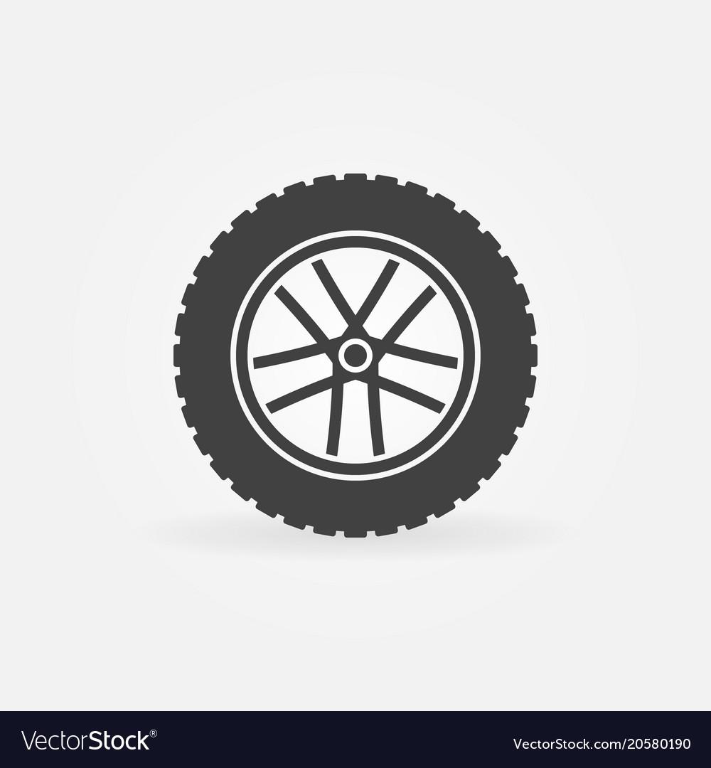 Wheel symbol or icon rim symbol