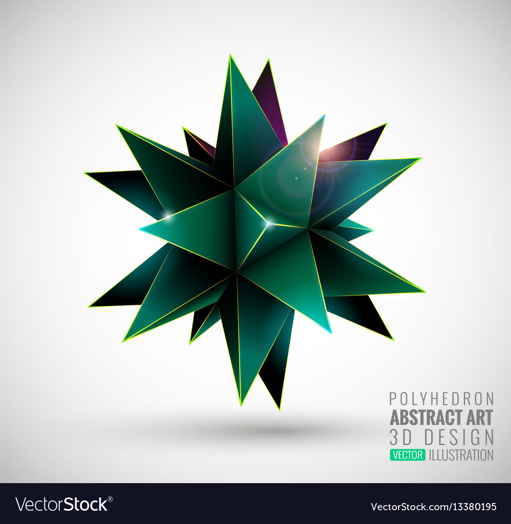 Abstract explosion polyhedron