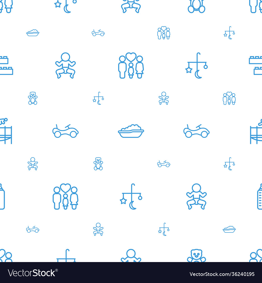 Childhood icons pattern seamless white background