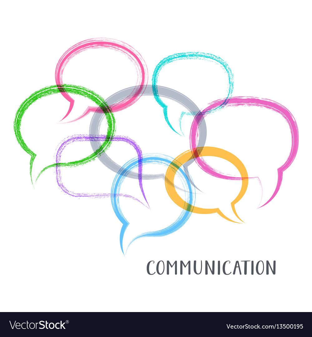Communication concept vector image