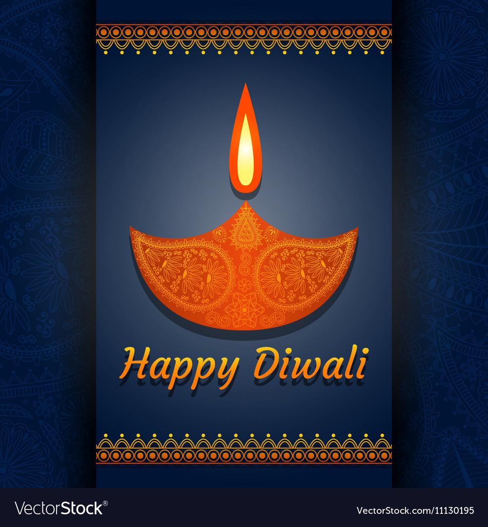 Greeting Card For Diwali Festival Celebration In I
