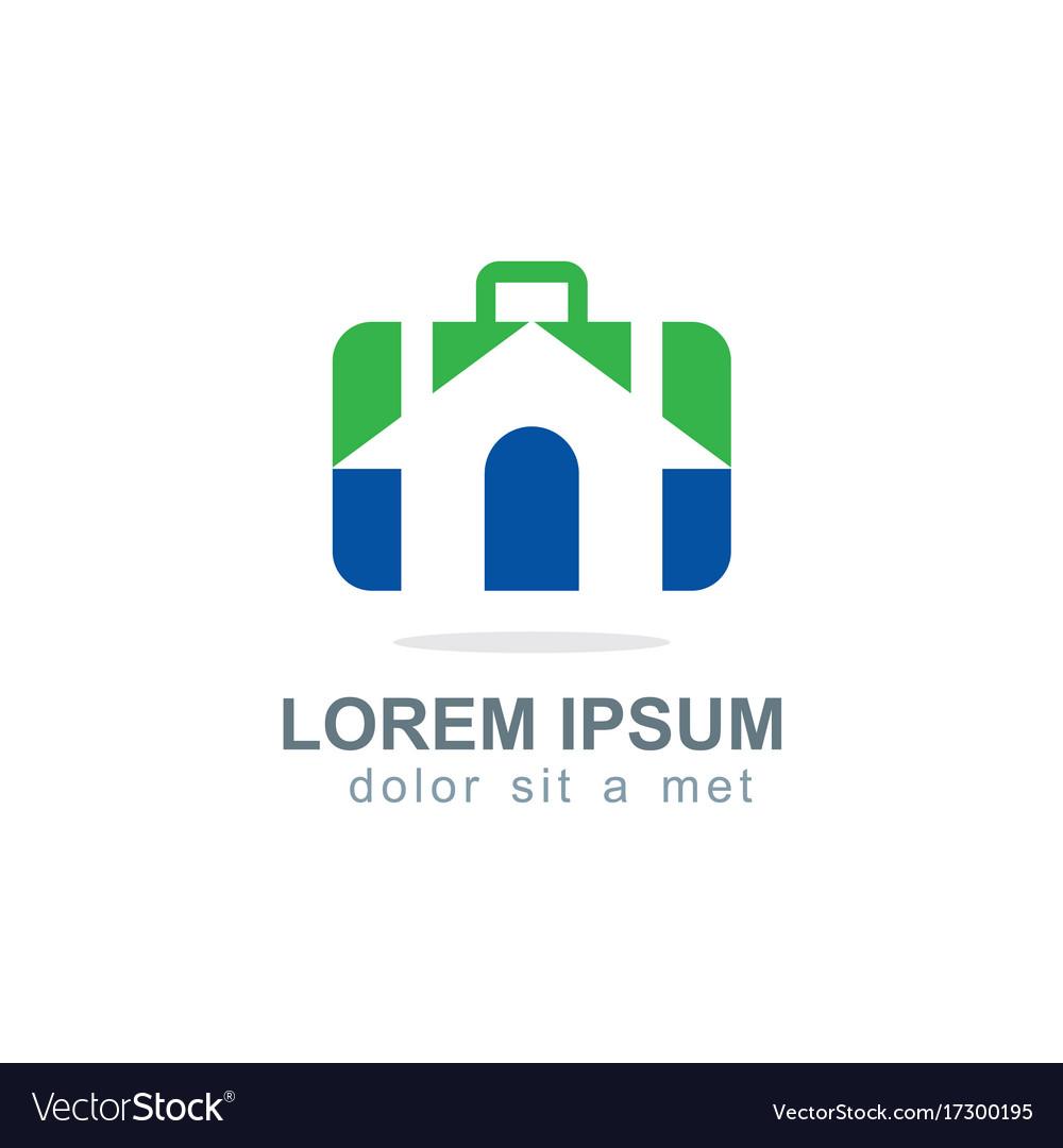 Home travel business company logo