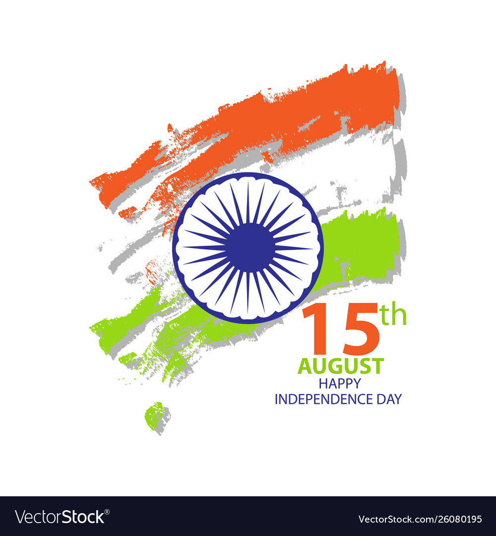 India independence day card august 15