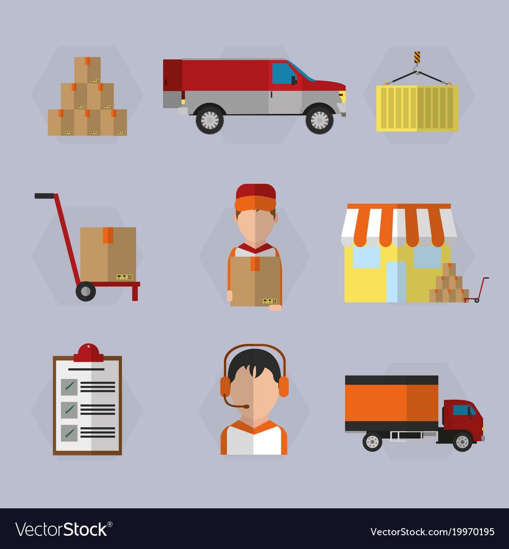 Logistics and transportation design vector image on VectorStock