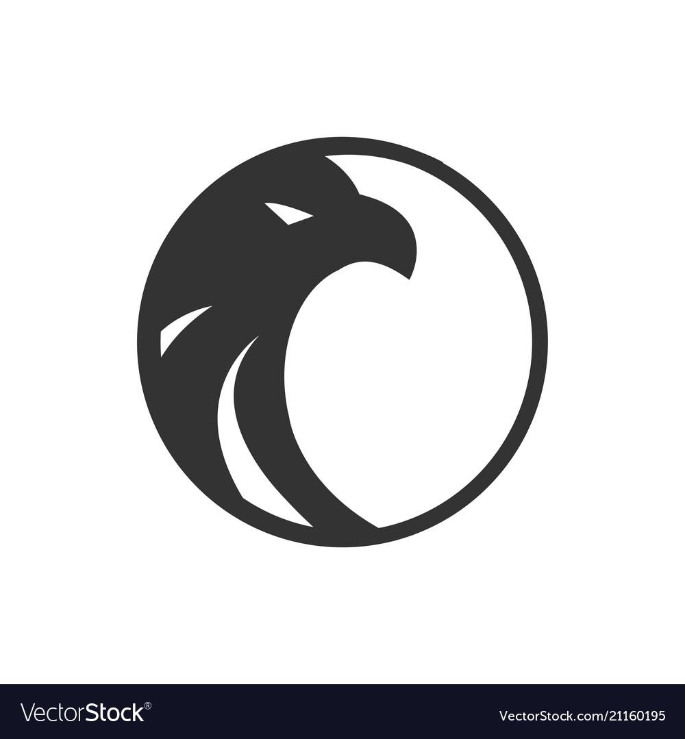 Logo black circle eagle logo template