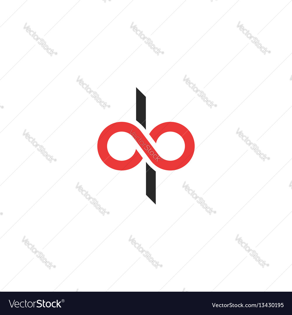 Logo dp letters combination d and p initials