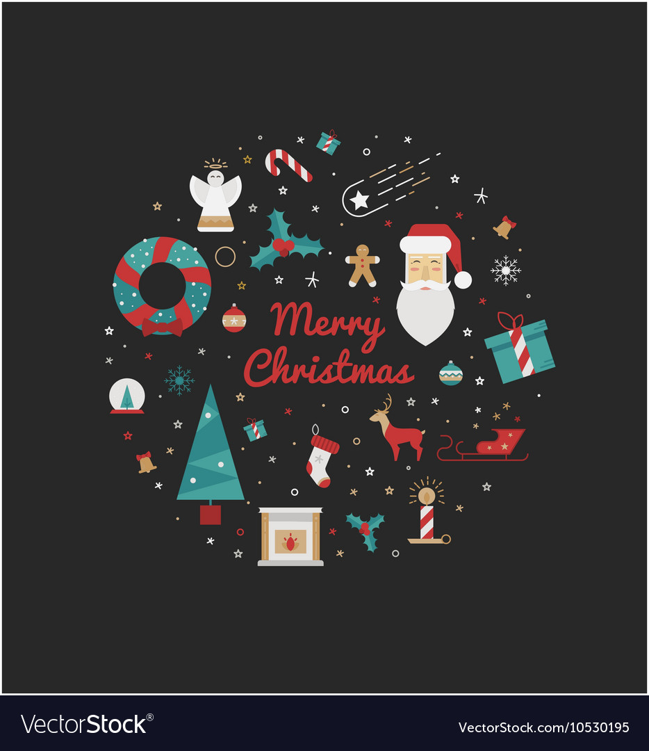 - Print For Christmas Decorations Royalty Free Vector Image