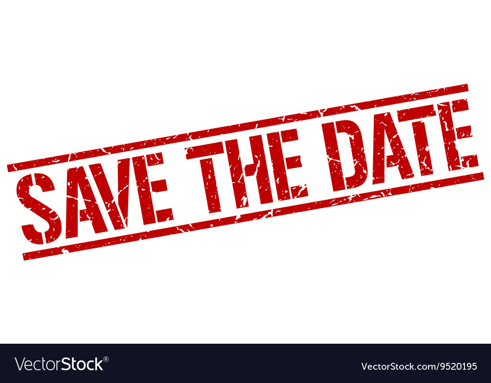 save the date stamp royalty free vector image vectorstock