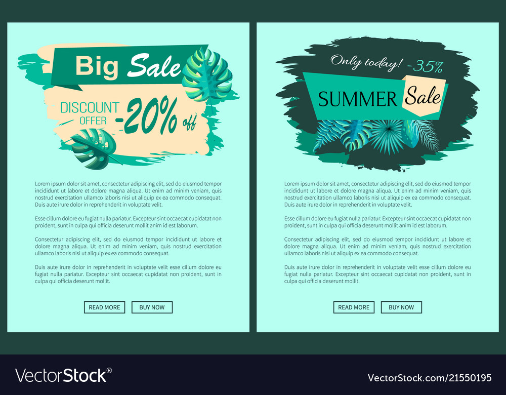 Summer sale with 35 and 20 percent off promotional