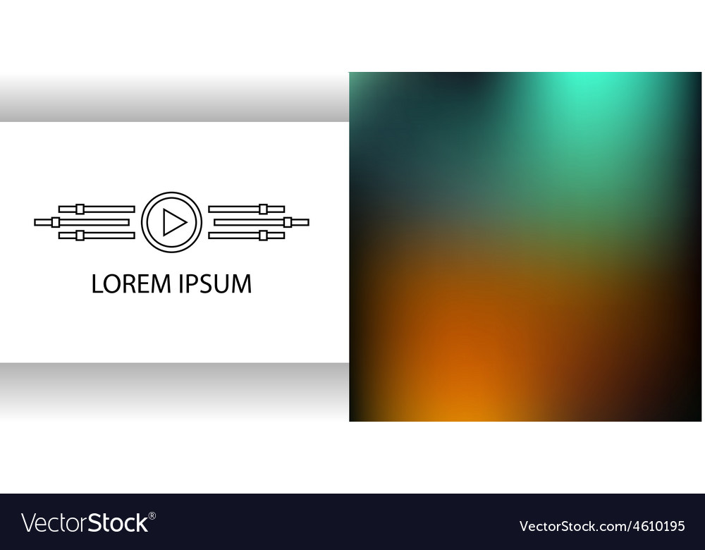 Template of a logo of video of studio sound Vector Image