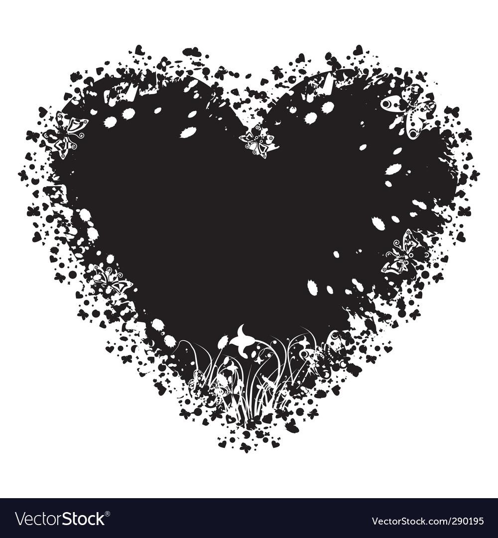 valentines grunge heart royalty free vector image rh vectorstock com grunge hearts generator grunge heart png