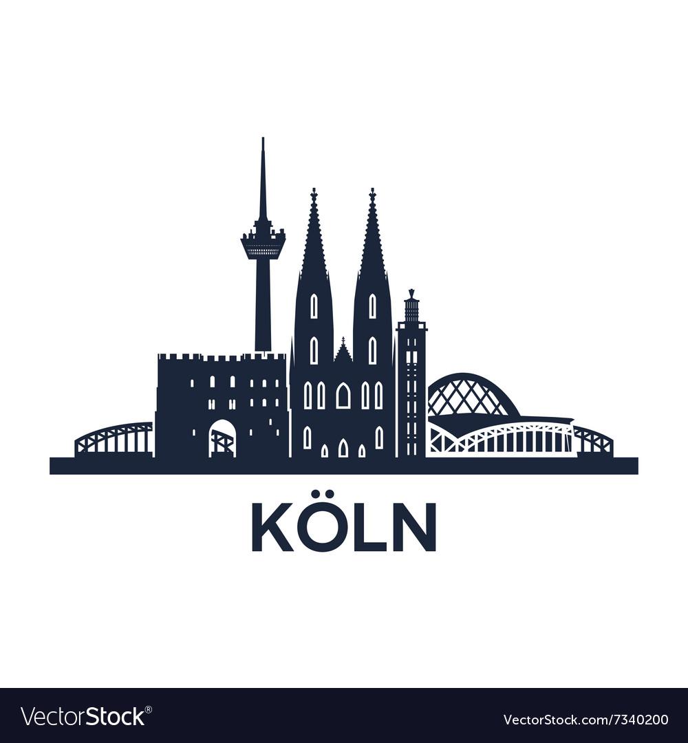 Cologne skyline emblem