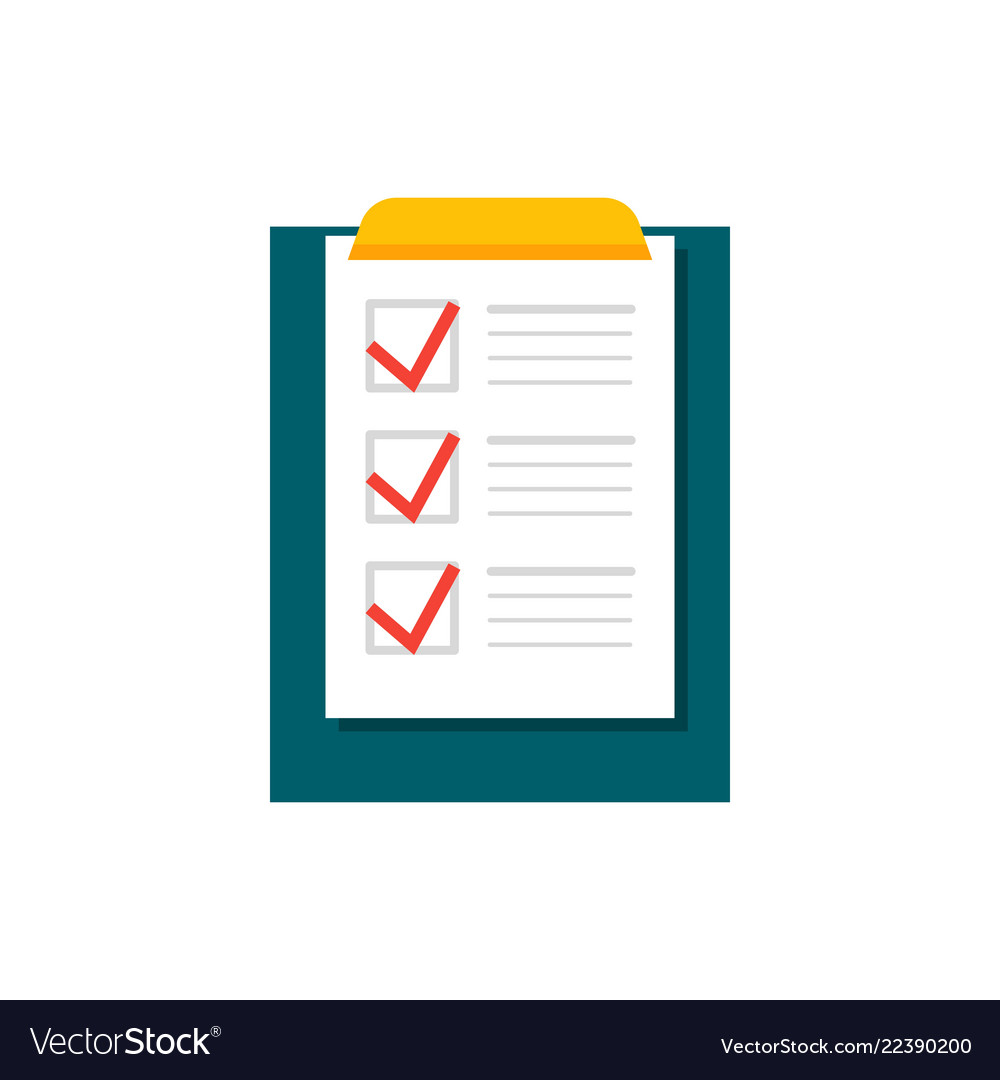Completing checklist on clipboard