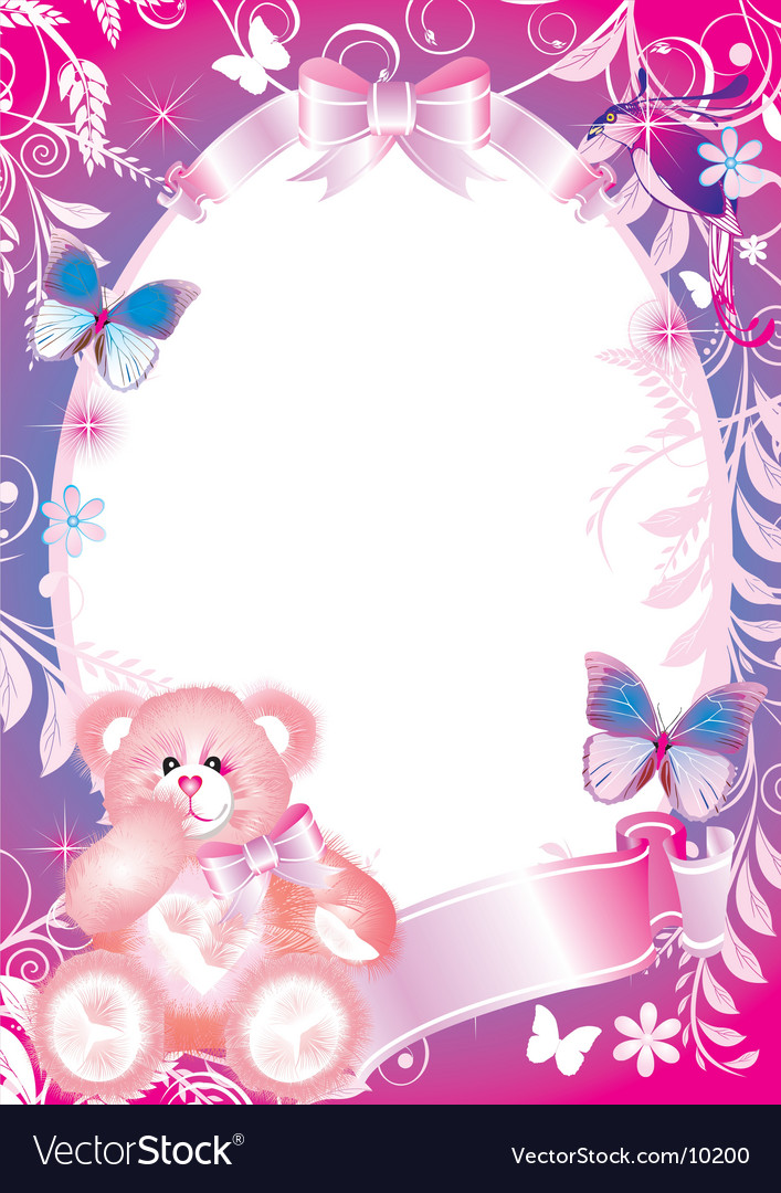 Fairy-tale frame graphic vector image
