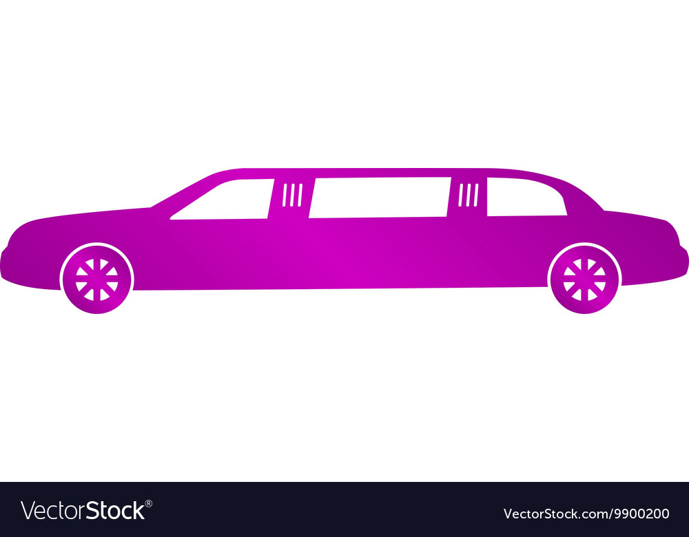 Limousine icon concept for vector image